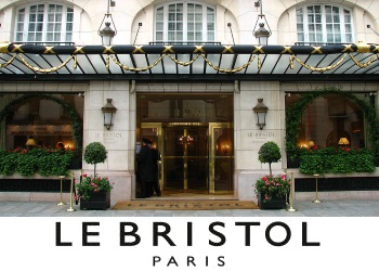 le bristol entrance France Palace Hotel